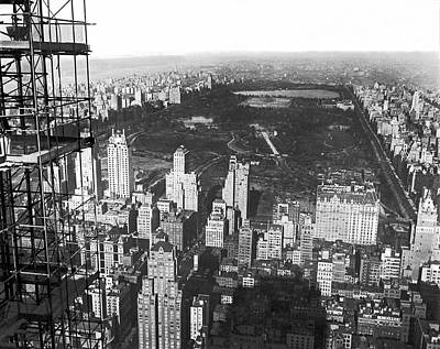 Aerial View Of Central Park Print by Underwood & Underwood