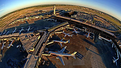 Aerial View Of Chicago Ohare Art Print