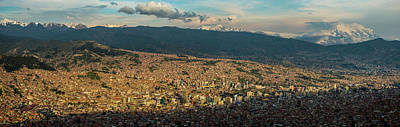 Aerial View Of City, El Alto, La Paz Art Print by Panoramic Images