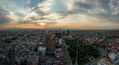 Mexico City Photograph - Aerial View Of Cityscape From Torre by Panoramic Images