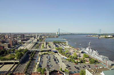 Aerial View Of Delaware River, Benjamin Art Print