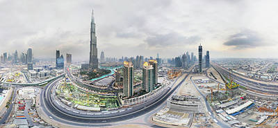 Photograph - Aerial View Of Dubai, Uae by Globalvision Communication / Globalvision 360
