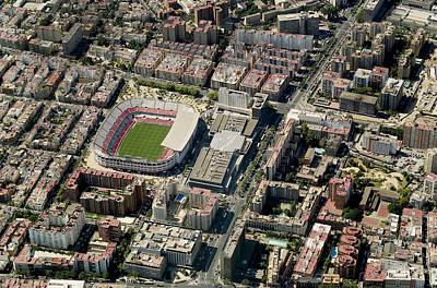 Al Andalus Photograph - Aerial View Of Estadio Ramón Sánchez by Blom ASA