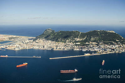 Photograph - Aerial View Of Gibraltar by Deborah Smolinske