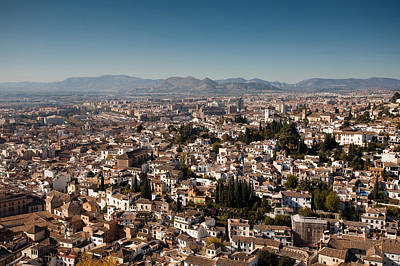 Photograph - Aerial View Of Granada by Paul Indigo