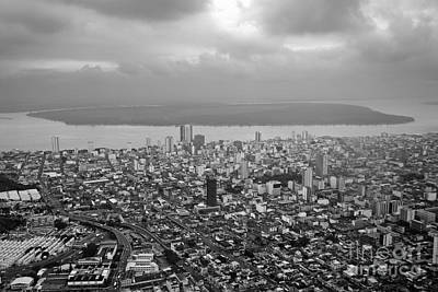 Aerial View Of Guayaquil City Art Print by Sami Sarkis