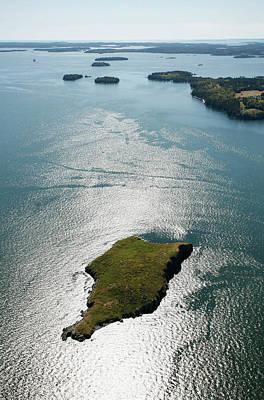 Aerial View Of Hard Head Island, Maine Art Print