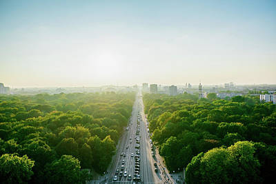 Photograph - Aerial View Of Highway Amidst Trees by Alexander Haase / Eyeem