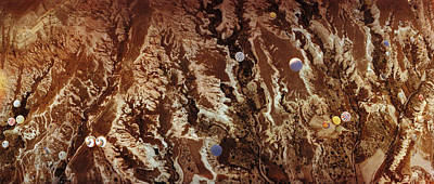 Hot Air Balloon Photograph - Aerial View Of Hot Air Balloons by Panoramic Images