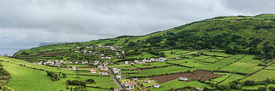 Azores Photograph - Aerial View Of Houses In A Village by Panoramic Images