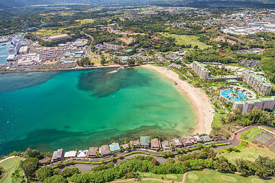 Photograph - Aerial View Of Kalapaki Beach by Pierre Leclerc Photography