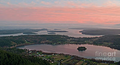 Photograph - Aerial View Of Lake Campbell At Sunset by Valerie Garner