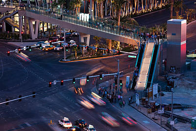 Sunset Strip Wall Art - Photograph - Aerial View Of Las Vegas Boulevard by Panoramic Images