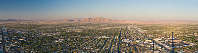 Stratosphere Photograph - Aerial View Of Las Vegas by Panoramic Images