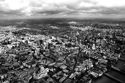St Pauls London Photograph - Aerial View Of London 2 by Mark Rogan