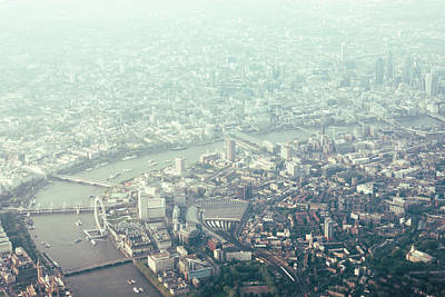 Photograph - Aerial View Of London And The River by Urbancow