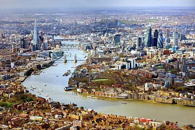 Aerial View Of  London Art Print by Vladimir Zakharov