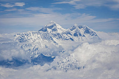 Aerial View Of Mount Everest Art Print by Hitendra SINKAR