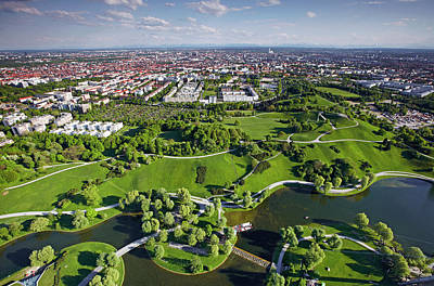 Photograph - Aerial View Of Munich by Allan Baxter