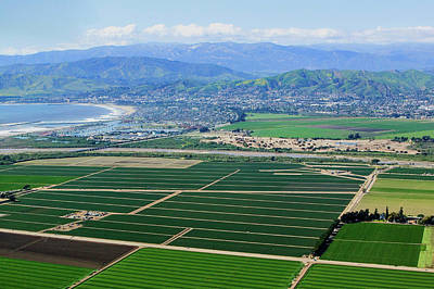 Farm Scene Photograph - Aerial View Of Oxnard Farm Fields by Panoramic Images