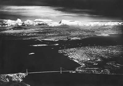 Photograph - Aerial View Of Sf Bay by Underwood Archives