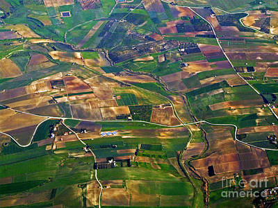 Photograph - aerial view of Sicily by Mary Attard