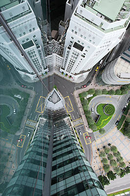 Financial District Photograph - Aerial View Of Singaores Financial by Andrew Tb Tan