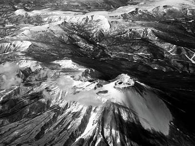 Scenery Photograph - Aerial View Of Snow Mountain by José Rentería Cobos Photography