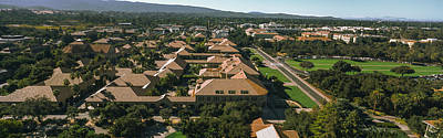 Stanford University Photograph - Aerial View Of Stanford University by Panoramic Images