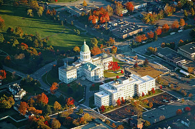Aerial View Of State Capital Building Art Print