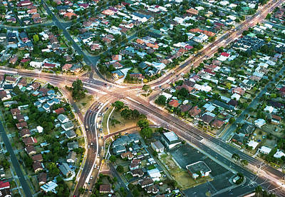 Photograph - Aerial View Of Suburban Streets by Georgeclerk