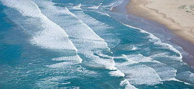 Pismo Beach Photograph - Aerial View Of Surf On The Beach, Pismo by Panoramic Images