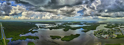 Collier Photograph - Aerial View Of Ten Thousand Islands by Panoramic Images