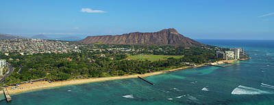 Diamond Head Photograph - Aerial View Of The Diamond Head by Panoramic Images
