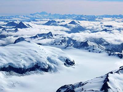 Aerial View Of The Southern Alps Of New Art Print by Thierrylevenq