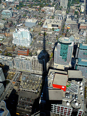Photograph - Aerial View Of Toronto by Lawrence Burry