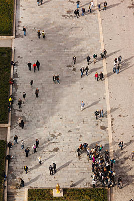 Aerial View Of Tourists Viewed Art Print by Panoramic Images