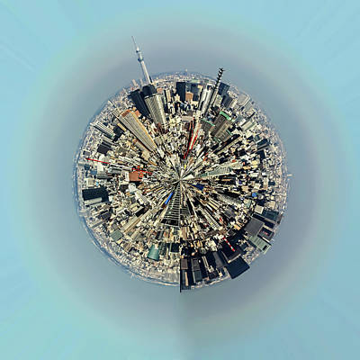 Aerial View Of Urban Landscape Of Tokyo Art Print by Photography By Zhangxun