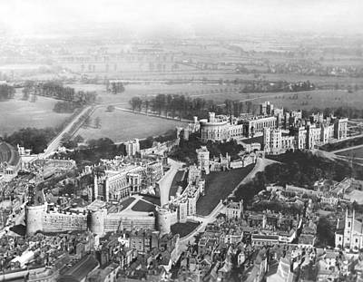 Aerial View Of Windsor Castle. Print by Underwood Archives