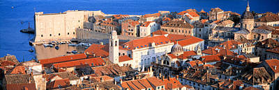Dubrovnik Photograph - Aerial View, Old Town, Dubrovnik by Panoramic Images