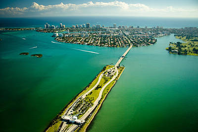 Photograph - Aerial View Over Miami by Celso Diniz