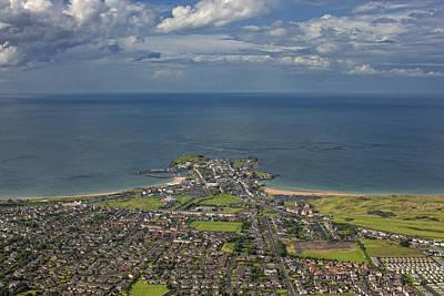 Portrush Photograph - Aerial View Portrush Harbour by Colin Bailie