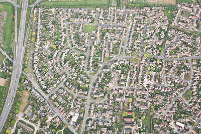 Suburbia Photograph - Aerial View  by Tom Gowanlock