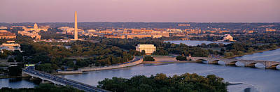 Washington Monument Photograph - Aerial, Washington Dc, District Of by Panoramic Images