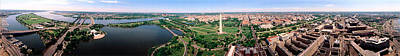 Jefferson Memorial Photograph - Aerial Washington Dc Usa by Panoramic Images