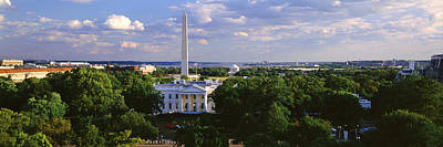Washington Monument Photograph - Aerial, White House, Washington Dc by Panoramic Images