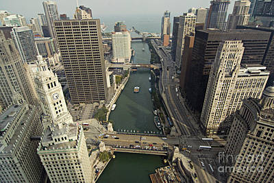 Aerial Chicago Skyscrapers Art Print by Linda Matlow