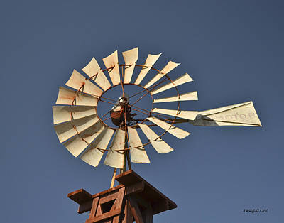 Photograph - Aermotor Windmill by Allen Sheffield