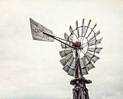 Aermotor Windmill In Grapevine Texas Art Print by Lisa Russo