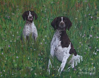 Painting - Aero And Bruno by Michelle Welles